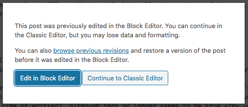 Stopping the BlockEditor