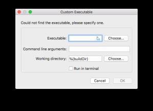 Qt4.5 Creator - qextserialport - Custom Executable