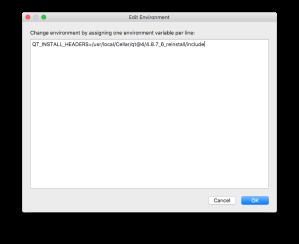QtCreator - Edit Environment